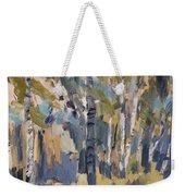 Birch Trees Along The Pond De Melle Weekender Tote Bag