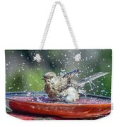 Bird In A Bath Weekender Tote Bag