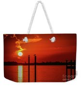 Bird On A Pole Sunrise Weekender Tote Bag