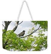Bird Resting On Branch Weekender Tote Bag