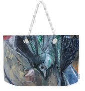 Birds In Flowers Weekender Tote Bag