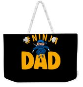 Birthday Ninja Party Dad Apparel Weekender Tote Bag