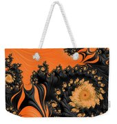 Black And Orange  Swirls Weekender Tote Bag