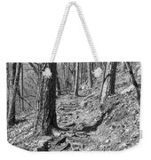 Black And White Mountain Trail Weekender Tote Bag