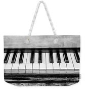 Black And White Piano Weekender Tote Bag