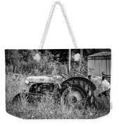 Black And White Tractor Weekender Tote Bag
