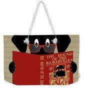 Black Dog Reading Weekender Tote Bag by Donna Mibus