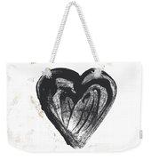 Black Heart- Art By Linda Woods Weekender Tote Bag