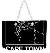 Black Map Of Cape Town Weekender Tote Bag