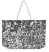 Black Outed Weekender Tote Bag