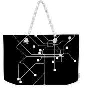 Black Philadelphia Subway Map Weekender Tote Bag