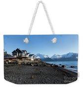 Black Sand Beach In Seward Alaska Weekender Tote Bag