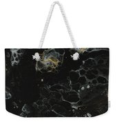 Black, Silver And Gold Abstract Weekender Tote Bag