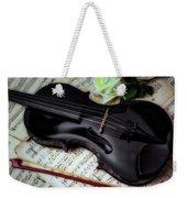 Black Violin On Sheet Music Weekender Tote Bag