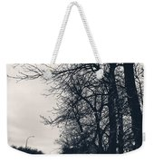 Bleak, Barren Trees Lining A Vacant Street Weekender Tote Bag