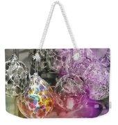 Blown Glass Ornaments Weekender Tote Bag by JAMART Photography