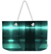 Blue Aluminum Surface. Metallic Fashion Geometric  Background Weekender Tote Bag