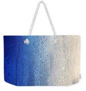 Blue And Silver Weekender Tote Bag