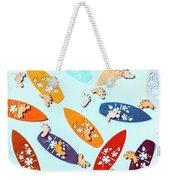 Blue Boarding Beach Weekender Tote Bag