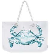 Blue Crab Turcoise Weekender Tote Bag