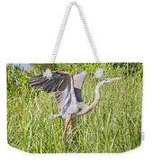 Blue Heron On The Rise Weekender Tote Bag