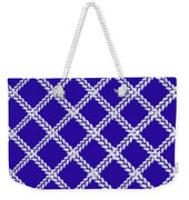 Blue Knit Weekender Tote Bag
