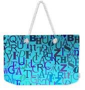 Blue Letters Over Blue Backlight Weekender Tote Bag