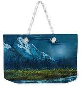 Blue Mountain Top Weekender Tote Bag