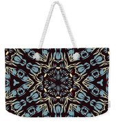 Blue Pattern Weekender Tote Bag