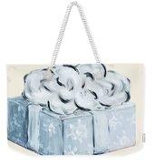 Blue Present Weekender Tote Bag