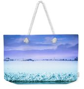 Blue Sky, White Field Weekender Tote Bag