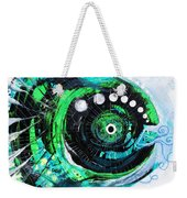 Blue Spewed Turtle Fish Weekender Tote Bag