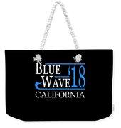 Blue Wave California Vote Democrat 2018 Weekender Tote Bag
