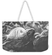 Blue Zebra Above Cave Art Sketch Weekender Tote Bag by Don Northup