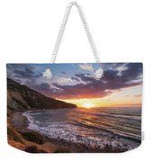 Bluff Cove At Sunset Weekender Tote Bag by Andy Konieczny
