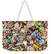 Bmx Pebble Race Weekender Tote Bag