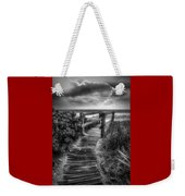 Boardwalk To The Sea In Radiant Black And White Weekender Tote Bag