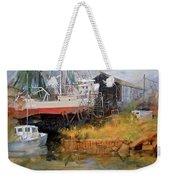 Boat In Drydock Weekender Tote Bag