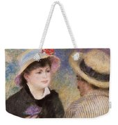 Boating Couple  Said To Be Aline Charigot And Renoir      Weekender Tote Bag