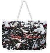 Happy Christmas 12 Weekender Tote Bag