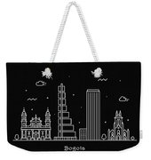 Bogota Skyline Travel Poster Weekender Tote Bag