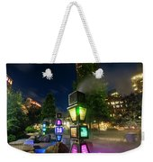 Boston Colored Steam Lights Boston Ma Rose Kennedy Greenway Steamy Weekender Tote Bag