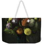 Bouquet Of Dahlias Weekender Tote Bag