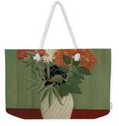 Bouquet Of Flowers With China Asters And Tokyos, 1910 Weekender Tote Bag