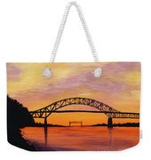 Bourne Bridge Sunset Weekender Tote Bag