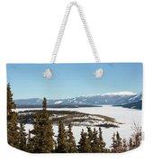 Bove Island On Windy Arm In Tagish Lake Yukon Weekender Tote Bag