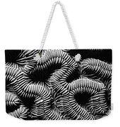 Brain Coral In Macro Bw Weekender Tote Bag