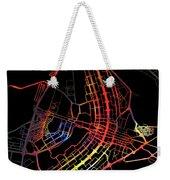 Brasilia Brazil City Street Map Watercolor Dark Mode Weekender Tote Bag