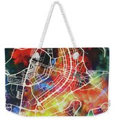 Brasilia Brazil Watercolor City Street Map Weekender Tote Bag
