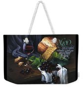 Bread And Wine Weekender Tote Bag by Clint Hansen